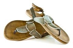 Stylish ladies' slippers Royalty Free Stock Photos