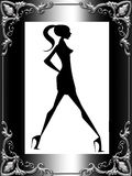 Stylish lady framed Royalty Free Stock Photos
