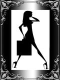 Stylish lady silhouette Royalty Free Stock Photos