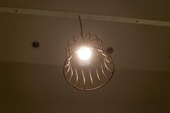 Stylish lampshades light one unit Stock Photography