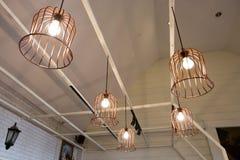 Stylish lampshades Stock Photography