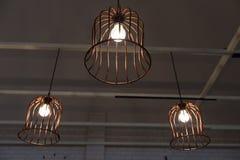 Stylish lampshades tree unit Royalty Free Stock Photos
