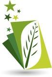 Stylish leaf logo Stock Image