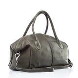 Stylish leather female handbag Stock Photos