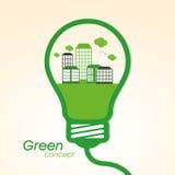 Stylish light bulb for Save Nature. Stock Photo