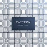 Stylish line pattern in squares background Stock Photos