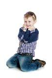 Stylish little boy stock photography