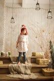 Stylish little girl in light pink dress Stock Image