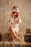 Stylish little girl in light pink dress Royalty Free Stock Photo