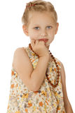 Stylish Little Girl Royalty Free Stock Photography