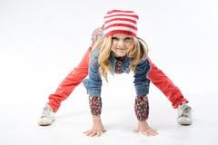 Stylish little girl stock photos