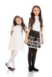Stylish little sister, oriental beauties Royalty Free Stock Images