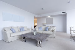 Stylish living room. In modern appartment Stock Images
