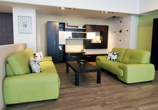 Stylish living room furniture Royalty Free Stock Photos