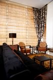 Stylish living room with trendy furniture Royalty Free Stock Photography