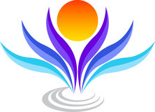 Stylish logo Stock Image