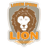 Stylish logo with an image of a lion Royalty Free Stock Photos