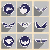 Stylish logos Eagles Stock Photo