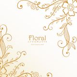 Stylish lovely floral decoration background Royalty Free Stock Photos