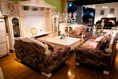 Stylish and luxurious sofa Royalty Free Stock Images