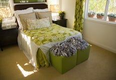 Stylish luxury bedroom. Royalty Free Stock Images