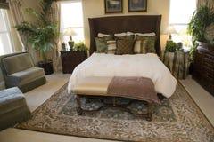Stylish luxury bedroom. Royalty Free Stock Image