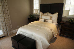 Stylish luxury home bedroom. Royalty Free Stock Photos