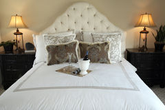 Stylish luxury home bedroom. Royalty Free Stock Photography