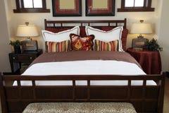 Stylish luxury home bedroom. Stock Images