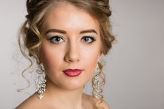 Stylish make-up for a young girl Stock Photography