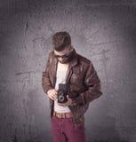 Stylish male with beard and sunglasses Royalty Free Stock Photo