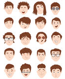 Stylish male people characters collection of various individuals portrait. Stock Photography