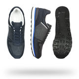 Stylish male sneakers isolated. On white Royalty Free Stock Images