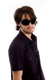 Stylish male wearing sunglasses. On an isolated background Royalty Free Stock Photo