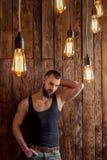 Stylish man with beard Royalty Free Stock Photography