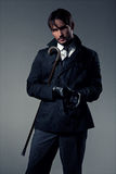 Stylish man with cane Stock Photo