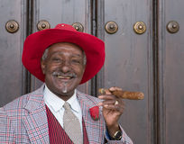 Stylish Man With Cigar, Havana Cuba Royalty Free Stock Image