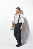 Stylish man with cigar Stock Photos