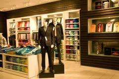 Stylish man clothing in store Stock Image