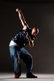 Stylish man dancing Stock Images