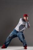 Stylish man dancing Stock Photography