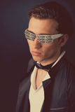 Fashion stylish man Stock Images