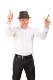 Stylish man in gray hat Royalty Free Stock Photography