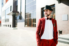 Stylish man in a hat Stock Photo