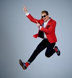 Stylish man in red jacket Stock Image