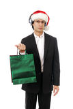 Stylish Man shopping for Christmas Royalty Free Stock Images
