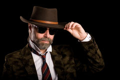 Stylish man in sunglasses Royalty Free Stock Images