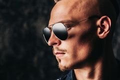 Stylish man in sunglasses royalty free stock photo