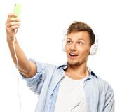 Stylish man taking selfie Stock Photo