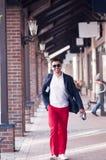 Stylish man on walk Stock Images